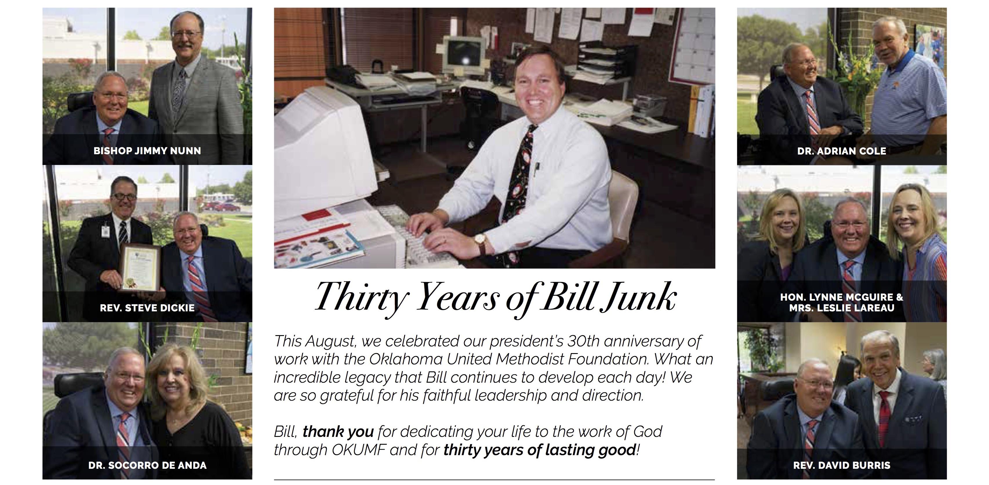 Bill Junk 30 Years